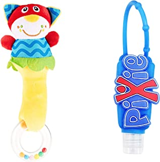 Pixie Cat Rattle Toy with Hand Sanitizer, Pack of 2