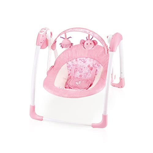 a9b42e9d553 Cute Baby -Deluxe Pink Daisy - Compact   Elegant Baby Swing(6508)