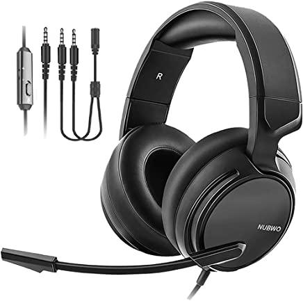 $26 » NUBWO N12 Gaming Headset & Xbox one Headset & PS4 Headset,3.5mm Surround Stereo Gaming Headphones with Mic Soft Memory Earmuffs for PC,Laptop,Video Game with Flexible Microphone Volume Control