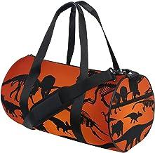 FANTAZIO Gym Duffel Bag Dinosaurus silhouet patroon Mens Gym Duffel Bag