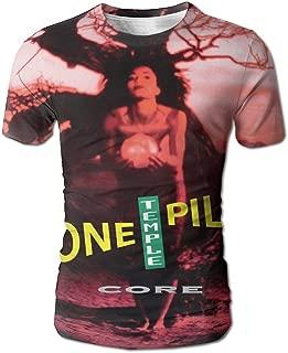 JohnHA Men's Stone Temple Pilots Core Design 3D Printed Short Sleeve Tee