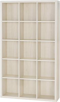 白井産業【SHIRAI】本棚 オープンラック 飾り棚 セパルテック ホワイト 白 幅110cm 高さ約185cm 【2梱包】 SEP-1911IV