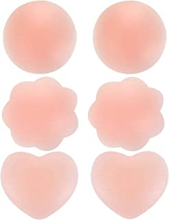 3 Pairs Reusable Silicone Nipple Cover Invisible Self Adhesive Silicone Breast Pads Breathable