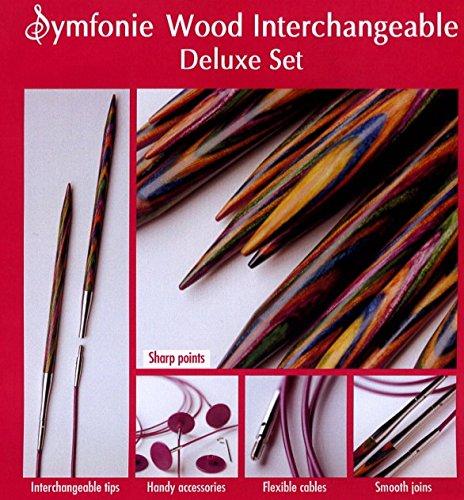 輪針 『Symfonie Wood (シンフォニー・ウッド) 付け替え可能輪針 デラックスセット』 KnitPro ニットプロ
