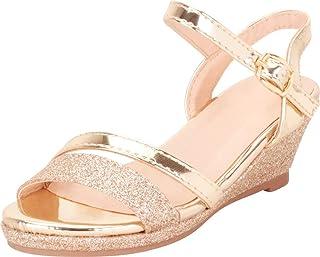 a808e6e8e108 Cambridge Select Girls  Open Toe Strappy Glitter Low Wedge Sandal  (Toddler Little Kid