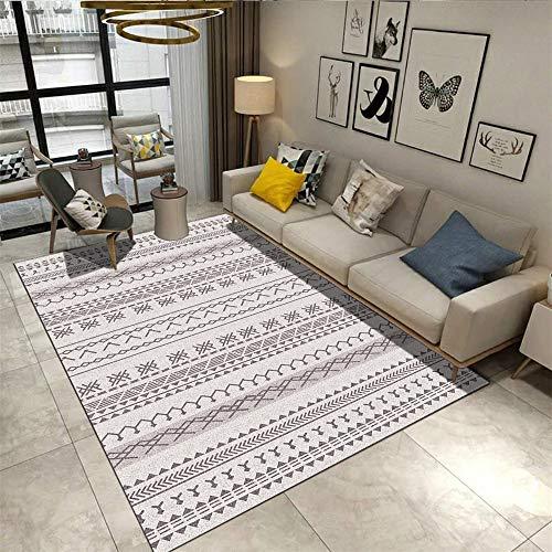 European Modern Minimalist Non-Slip Carpet Geometric Printing Moisture-Proof Mats Living Room Bedroom Bedside Hotel Restaurant Party Mats