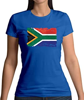 South Africa Grunge Style Flag - Womens T-Shirt - 13 Colours