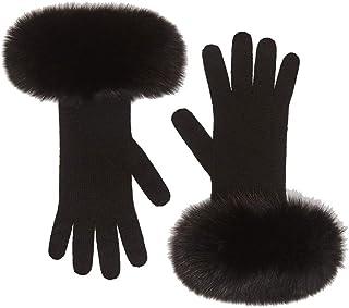 Luxury Fashion   Max Mara Womens 4566038306007 Black Gloves   Season Permanent