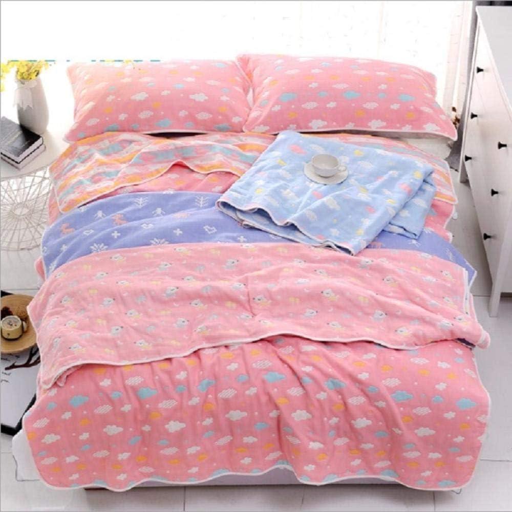 Coton De Mousseline Couverture De Bébé Enfants Enfants Garçon Fille Épaisse 6 couches Bébé Swaddle Couverture Meias Literie Couette Couverture 6
