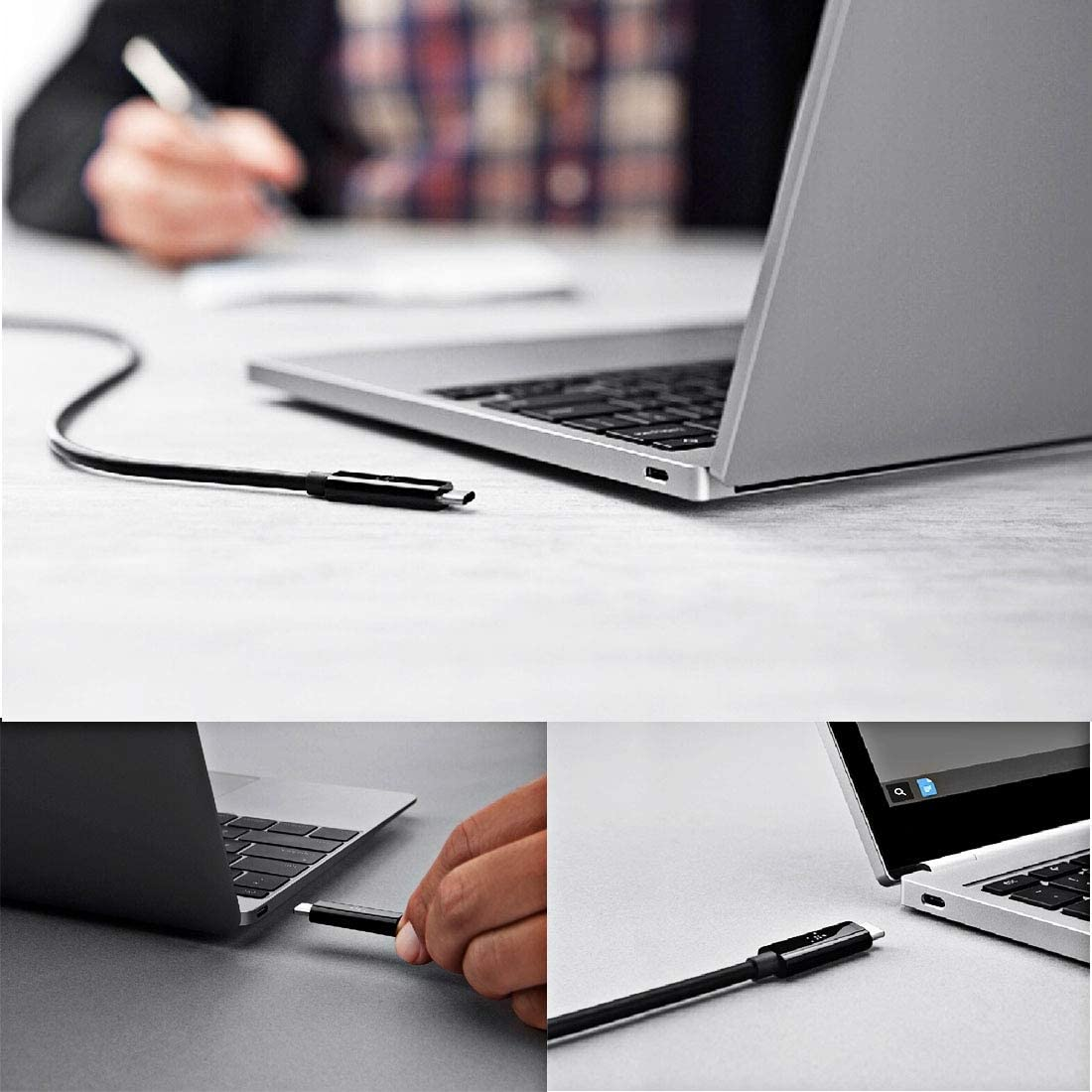 Color : Black Black fire bird Simple and Practical 28cm USB-C//Type-C Male to Micro USB Male Data Sync Charging Cable,Simple and Practical