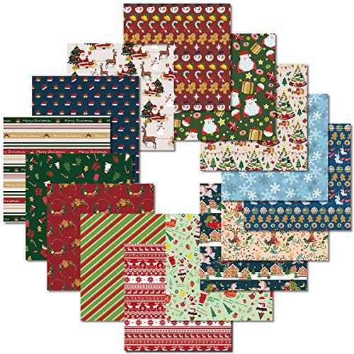 PAPERKIDDO Origami Paper 105 Sheets Double Sided Christmas Pattern Colorful Folding Paper Arts and Crafts Squares Paper for Kids & Adults 6 inch