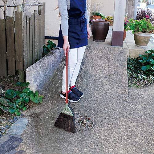 アズマ外ほうきコンポニワニワ短柄穂幅25cm全長82cm適度な弾力で掃きやすい混穂178