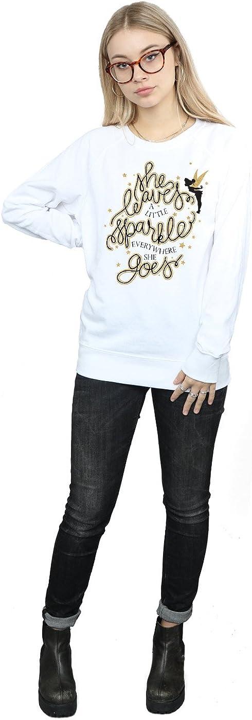 Disney Womens Tinkerbell Stars Sweatshirt