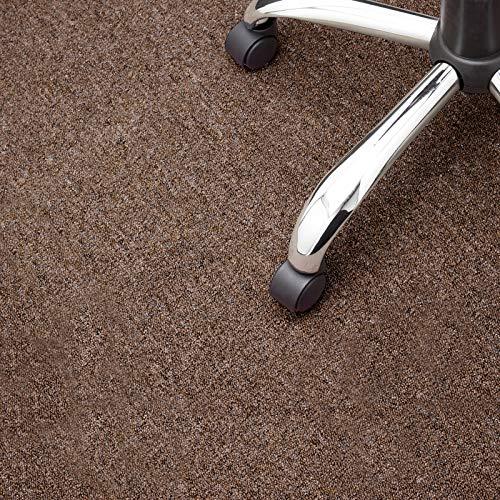 Floori® Nadelfilz Teppich, GUT-Siegel, Emissions- & geruchsfrei, wasserabweisend | Viele Farben & Größen (100x200 cm, braun)