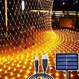 204 LEDs Guirnaldas Neta Luz, 3M X 2M Impermeable de luz de Red Alimentado por...