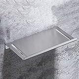 Shve Étagère de salle de bain en acier inoxydable 304, support antirouille anti-corrosion simple et à la mode, solide panneau...