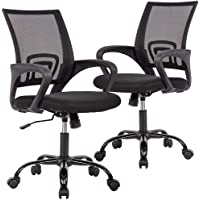 2-Set BestOffice Ergonomic Mesh Office Desk Midback Task Chair