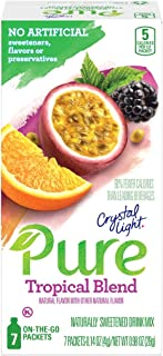 Sponsored Ad - Crystal Light Pure Tropical Blend Drink Mix (84 On-the-Go Packets, 12 Packs of 7)