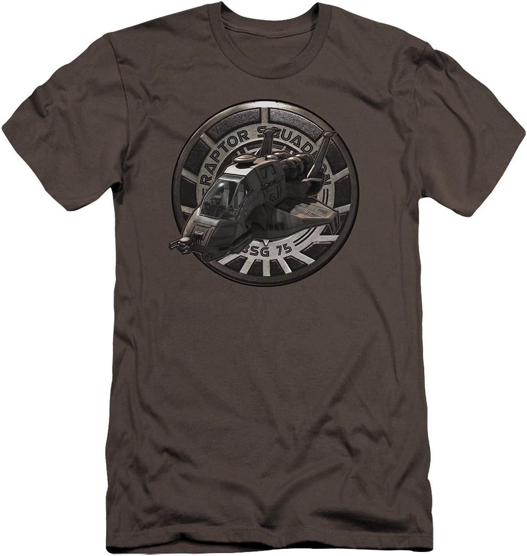 Battlestar Galactica BSG  Mens Raptor Squadron Premium Slim Fit TShirt