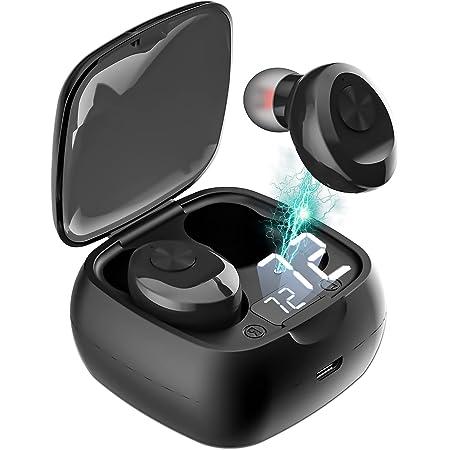 TXG Audifonos Inalámbricos, Mini Audífonos Inalámbricos Bluetooth 5.0 Deportivos IPX6 Impermeable, Auriculares Inalámbricos Deportivos con Micrófonos Dual Incorporado, Caja de carga portátil de gran capacidad, Se Pueden Usar para Correr, Escuchar Música, Ver Videos,Hablar Por Teléfono