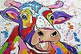 Graffiti Dibujos Animados Niño Salon Decoracion Arte Animal Colorido Vaca Poster Lindo Vaca Vivero Pared Arte Estampados Vivero Poster Cuadro Moderno Recamara Pared I10125