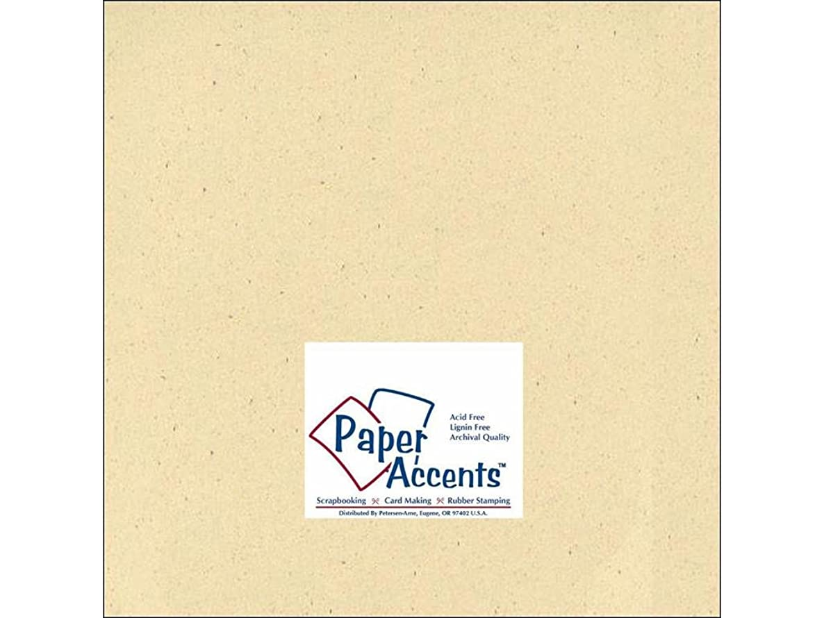 Accent Design Paper Accents ADPaperRecycled12x12Husk Cdstk Recycled 12x12 80# Husk