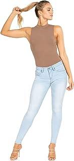 YMI Women's Wannabettabutt Mid Rise Denim Skinny Jeans