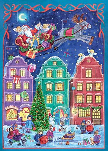 """Advent Calendar A4 """"Santa Claus flies here"""""""