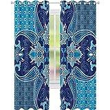 Cortina opaca para ventana, patrón persa oriental, con diseño de efectos...