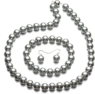 Best dark gray pearl necklace Reviews