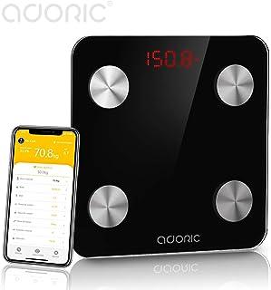 comprar comparacion Báscula Grasa Corporal Bluetooth Más de 8 Funciones, Báscula Analógica Monitores de composición corporal Para Móviles Andr...