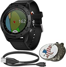 Garmin Approach S60 Bundle Golf GPS Sports Watch | Includes USB Charging/Data Cable, Special Designed Custom Golf Ball Mark Hat Clip Set