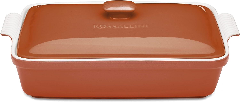 ROSSALLINI Stoneware Casserole 祝開店大放出セール開催中 Dish 限定モデル Bakeware Lid Set with Cover