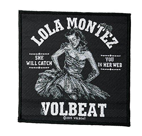 Volbeat Aufnäher - Lola Montez -(SP2810) Volbeat Patch - Gewebt & Lizenziert !!