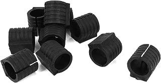 Sourcingmap 10 Pcs Noir en Plastique Rectangle Blanking Fin Tube Caps Inserts Bung 49mm x 24mm