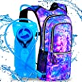 Sojourner Rave Hydration Pack Backpack - 2L Water Bladder Included for Festivals, Raves, Hiking, Biking, Climbing, Running and More (Multiple Styles) (Galaxy)