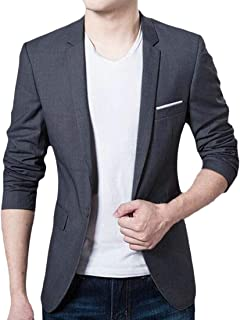 FSSE Mens 1 Button Regular Fit Business Casual Dress Blazer Jacket Sport Coat