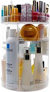 360 Degree Rotating Makeup Organizer,Indoor Ultima DIY Adjustable Large Capacity Spinning Cosmetic Storage Rack for Vanity...