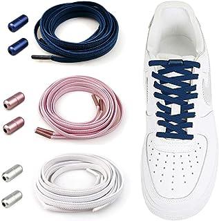 Elastici Lacci Delle Scarpe Lacci Senza Nodo No Tie Lacci Scarpe Rotondi Lacci Elastici con Chiusura in Metallo per Scarpe...