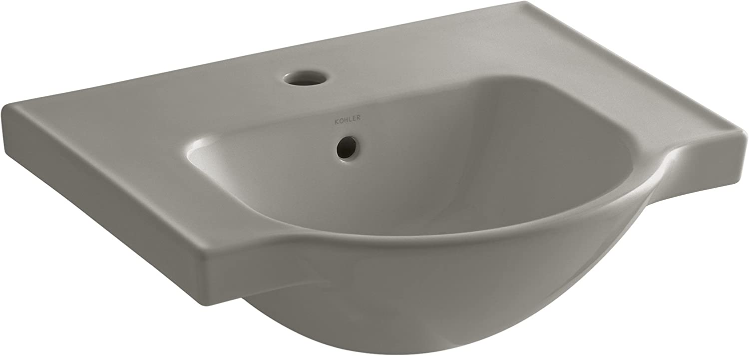 Kohler 5247-1-K4 Veer Single-Hole Sink Basin, 21-Inch, Cashmere
