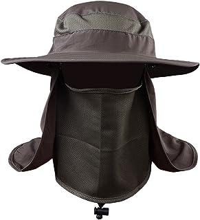 Sombrero Protección UV, Cara Cuello Solapa Sol Pesca Sombrero, Máscara para el aire libre, Equipo de pesca