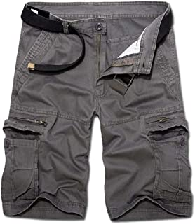 AKARMY Men's Lightweight Cargo Shorts Utility Work Short Outdoor Cotton Twill Shorts with 8 Pockets