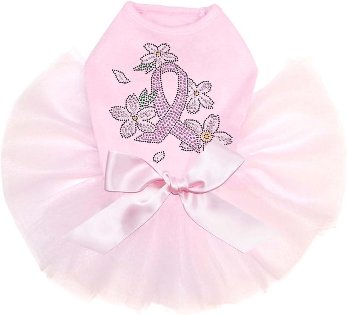 Pink Ribbon Indefinitely with Popular brand in the world Flowers - Bling Pi Tutu Dog Dress L Rhinestone