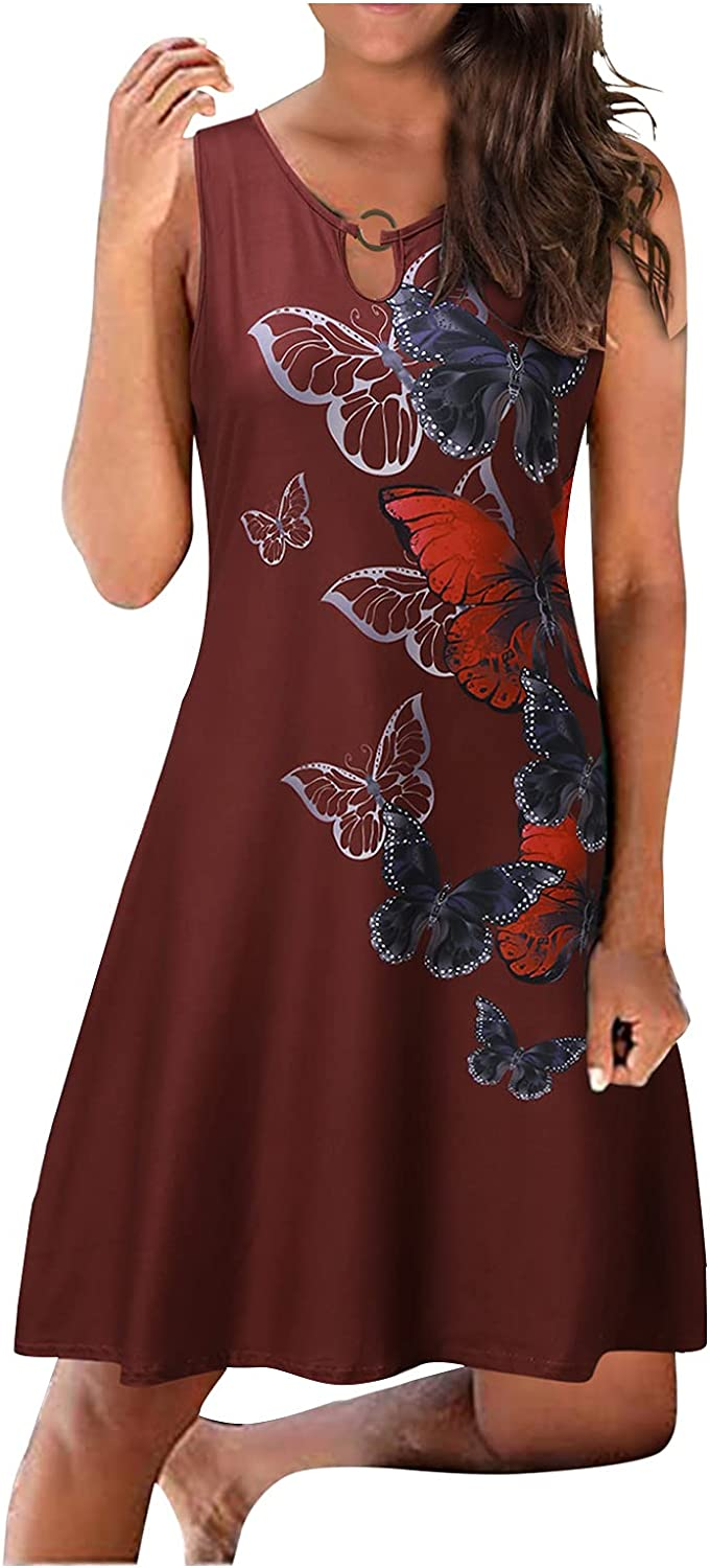 Sundresses for Women Casual OFFicial Dresses Outf Summer Beach Nippon regular agency