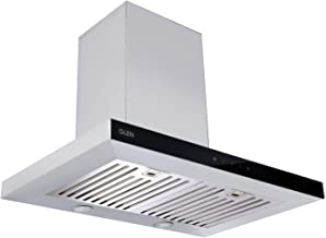Glen 60 cm 1000 m3/hr Wall Mounted Kitchen Chimney Touch Controls Baffle Filters (6056SXTS SS, Silver)