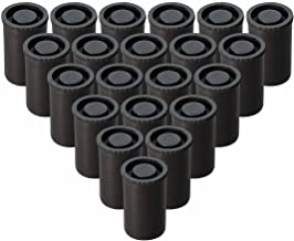 Plastic Film Canister with Lids, Pack of 25 (Black)