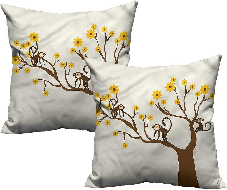 Funny,Pillowcases Climbing Cute Kids Fun 24 x 24 x2 Home Decor Supplies (Without core)