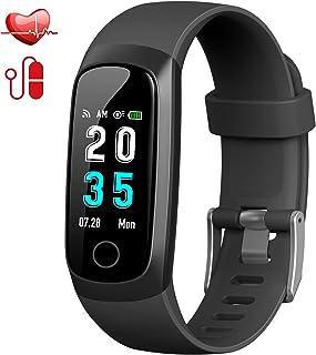 Trswyop Pulsera de Actividad Inteligente, Reloj Inteligente Hombre Mujer con Pulsómetro Presión Arterial Reloj Deportivo Podómetro GPS Impermeable IP67 Cronómetro Smartwatch para Android iOS Teléfono