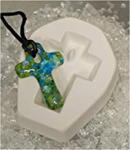 Holey Casting Petite Cross Jewelry Mold for Fusing Glass Frit