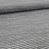 Schickliesel Jersey Stoff Meterware Basic Stripes (grau)